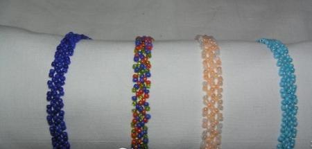 Плетение браслета крестиком