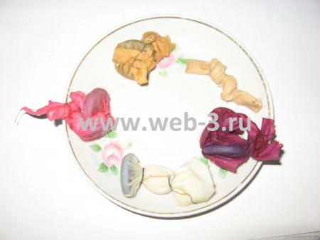 Покрасить ткань в домашних условиях техникой узелкового батика