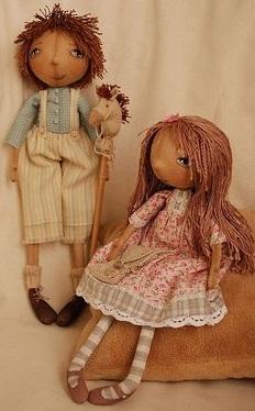 забавные куклы из ткани