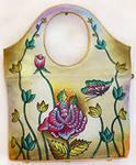 """Описание: оригинальная сумка из натуральной кожи и нежным рисунком.  Сумка закрывается  """"на молнию """"..."""